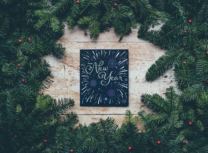 キラキラの絵具を使って新年を迎える喜びを表現。 文字とイラストが一体となって一枚のアートになりました。