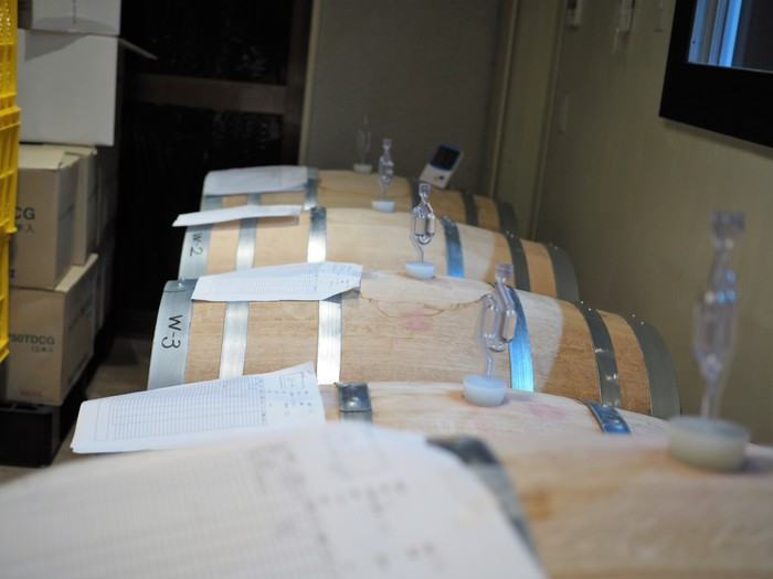1階のワイン醸造所もレストランやテイスティングルームを利用する際に、希望すれば見学することが可能です。 ※見学のみは受け付けていないそう