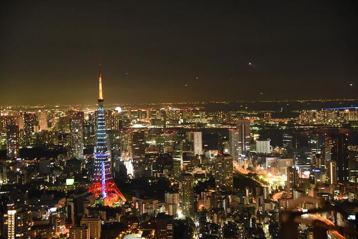 さらなる贅沢時間を楽しみたいなら、美術館のついでに六本木ヒルズ展望台「東京シティビュー」へ立ち寄るのはいかが?こんな夜景を見れば、明日への活力につながるかも?!