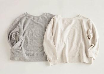 サラッと着られるアイテムは、疲れた体を優しく包んでくれる。 気兼ねなく着られるデザイン。