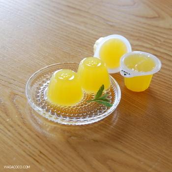 つるりとした一口サイズのゼリーは、夏のおやつにぴったり!添加物なども含まれていないので、お子様にも安心して食べさせられますね。
