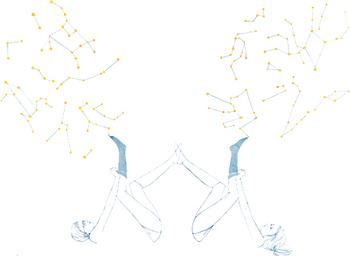 """""""物語のある靴下""""をコンセプトにしていて、靴下にはそれぞれ星座や惑星の名前が付けられています。"""