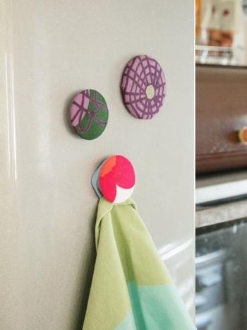 冷蔵庫に並べておくだけでもなんだかおしゃれ。簡単に作れるので、端切れがあるとき是非試してみてくださいね。