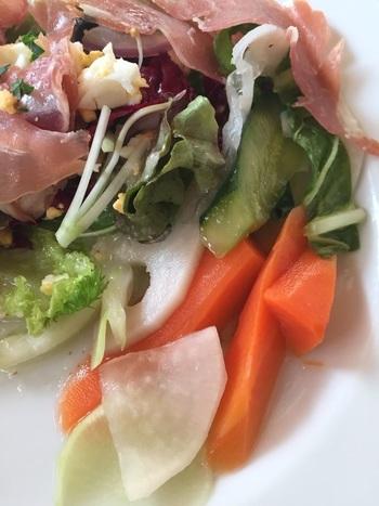 アップに耐えうる、野菜のみずみずしさ。