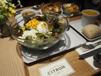ランチは、サラダセット、キッシュセット、グラタンセットから選べます。野菜をたっぷり使用したお料理は、どれもフランスの家庭料理がヒントになっている、温かい雰囲気。オーダーメイドサラダは、ベースと、豊富なトッピングの中から4品が選べるシステム。月替わりの、おまかせサラダもおすすめです。