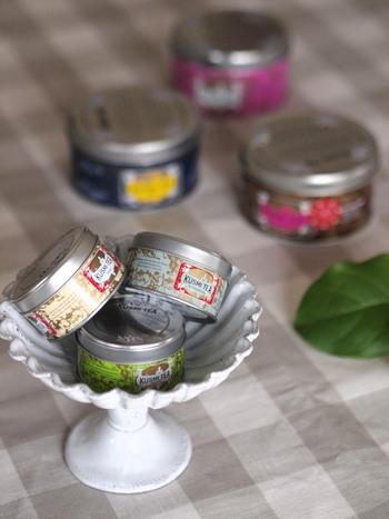 25gの小さな缶をいくつか器に飾っても可愛い♡ちょっとしたインテリアに代わりに◎。