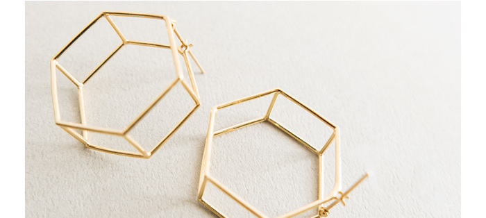SIRI SIRIではガラス以外のアクセサリーも作られています。こちらはヘキサゴン型が可愛いゴールドピアス。
