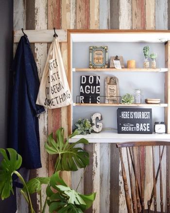 カッコいい男前インテリアもテイストを合わせ、ラベルやタイポグラフィーで統一感を出します。おしゃれなカフェのような空間を目指しましょう。