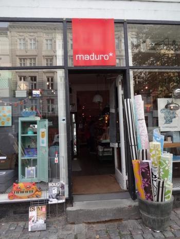 maduroはコペンハーゲン市内にある、レトロテイストがかわいらしい雑貨屋さん。  アクセサリーや生活雑貨、洗面用具といった雑貨から家具まで幅広いジャンルのアイテムを取り扱っています。
