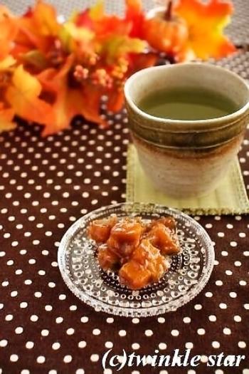 さつまいもではなく、かぼちゃで作ってみても美味しそう。 シナモンにからめて、秋の日のおやつに。
