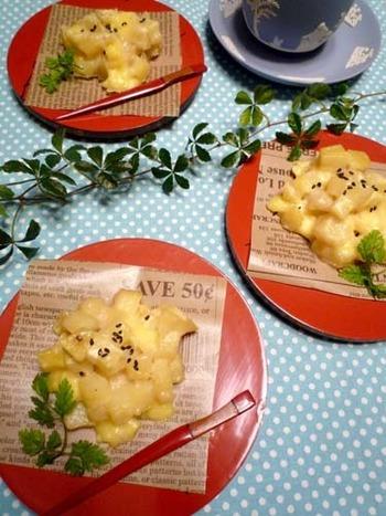 チーズの入ったちょっとお食事パン風の鬼まんじゅう。朝ごはんやランチにも良さそうですね。 すいとんの粉を使ったもちもちレシピです。