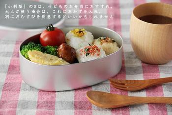こちらはどこか懐かしいアルミ二ウムのお弁当箱です。落ち着いた雰囲気のお弁当箱ですよね。 梅干しなど酸性の食材を使っても大丈夫なように、しっかりと加工か施されたものがおすすめです。洗いやすく長持ちもするので、楽しくお弁当ライフが送れそうです。