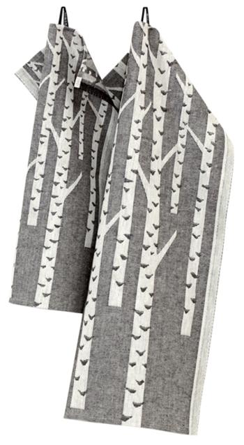 【Kitchen Towel 35x50cm / 46x70cm 】 こちらはキッチンタオル。2サイズあるから用途によって使い分けるのもいいかも。フックなどに掛けられる紐がついていて便利。キッチンに吊るしていても生活感を感じさせないおしゃれなデザインです。