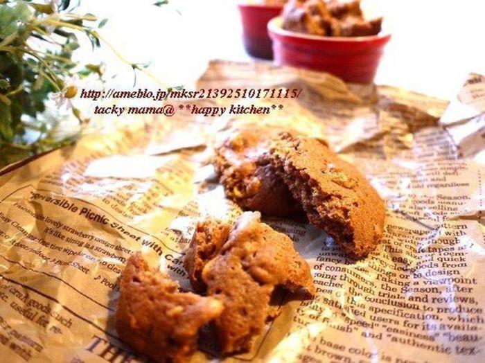 カントリーマアム風のふわほろクッキーにコーンフレークを混ぜて。既製品にはないような組み合わせを考えて、好みの『自分カントリーマアム』を研究してもおもしろいかも?!