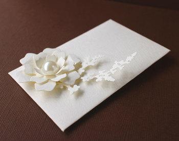 特別な人に贈りたいポチ袋。あえて白のワントーンでそろえられたデザインは、落ちるシルエットまでが上品に映ります。