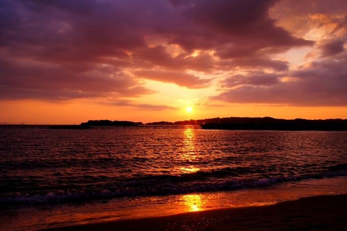 もちろん絶景夕日も見れます。 日間賀島の最後にぜひ見ておきたい。