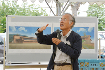 メインショップの「草屋根」やカステラショップ「栗百本」など、施設を設計したのは建築家の藤森照信さん。岐阜県・多治見市にある「モザイクタイルミュージアム」も手掛けた有名な建築家です。