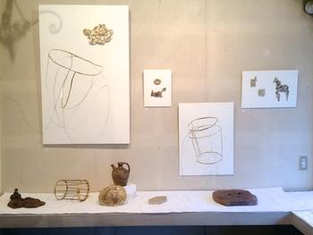 西荻窪のフランス古道具店・Le Midiさんで行われた展示「馬と花」。