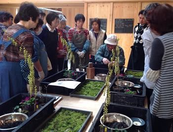 また、たねや農藝「愛四季苑」では、毎月テーマを決めて寄せ植え教室を開催しています。山野草の寄せ植え教室は珍しいとのことで、県外から参加される方もいらっしゃるそうです。興味のある方はぜひHPをチェックしてみてくださいね♪
