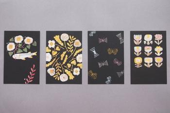 ▪️鹿児島睦 図案ポストカード in the dark  今、絶大な人気を誇る陶芸家・鹿児島睦さんの器から生み出された、前田景(アートディレクター)さん作のポストカード。ポスターでも展開されている図案を小さなサイズで楽しめます。