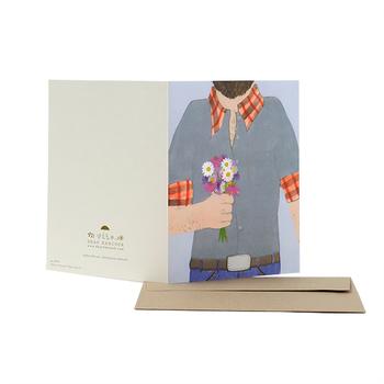 ▪️Dear Hancock(ディアハンコック) グリーティングカード  二人のアーティストが展開するLA発のステーショナリーブランド「Dear Hancock(ディアハンコック)」のポストカード。大胆な色使いと、繊細なイラストが素敵な一枚です。