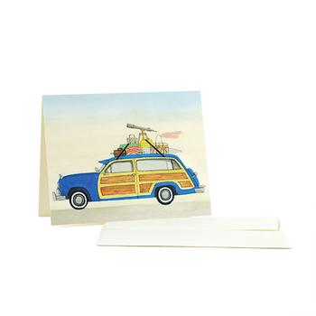 同じく、Dear Hancockのカードに描かれているのは、レトロでどこか懐かしい雰囲気のイラスト。このポストカードを眺めていたら、どこかへ旅に出かけたくなりそう。
