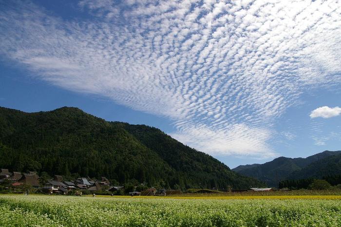【9月下旬の「美山かやぶきの里」】