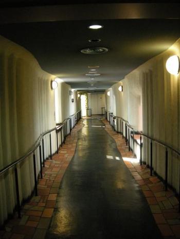 不規則に波打つように続く廊下も絶好のフォトスポット。中に入った人だけが出会える不思議な空間をたっぷり楽しみましょう。