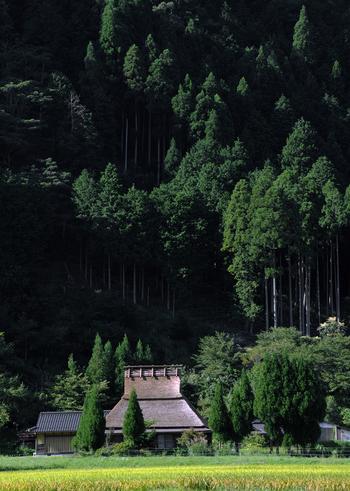 【9月初旬の美山かやぶきの里】