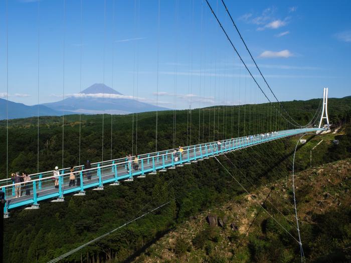 旅の最後は、2015年の年末にできた、三島の新名所「三島スカイウォーク」です。箱根山の麓にありますが、三島駅からでもバスで25分程で到着します。