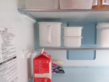 さらにこちらの写真のように庫内を美しく整理できるのも、ホワイトシリーズならではの魅力です。とくに持ち手付きストッカーは、冷蔵庫の棚にすっきり収まるサイズ感もポイント。こちらのブロガーさんはストッカーに替えたことで、庫内のスペースを有効活用できるようになったそうです。冷蔵庫をすっきり収納したい!という方は、ぜひ検討してみてはいかがでしょう?