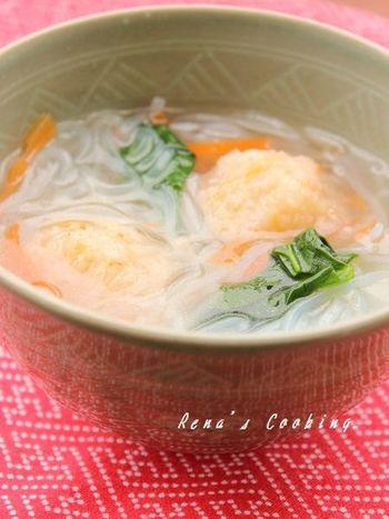 中華風のやさしい味わい。しょうが入りで体もぽかぽか。 温かくやさしい味わいで身も心もほっとします。