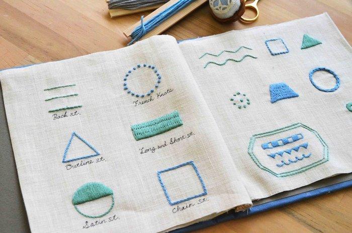北欧らしいテキスタイルを刺繍で学んでいく講座もあります。刺繍は、一度学習すると自分のおうちでいろいろなモチーフを作っていくことができるので、本格的に習ってみると一生の宝になります。