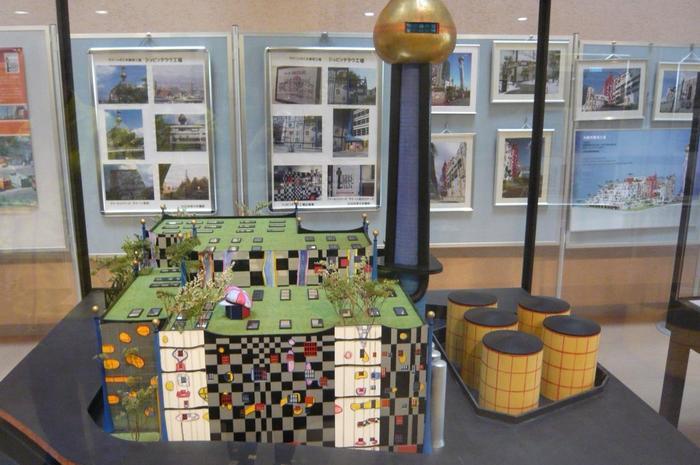 シュピッテラウ焼却場の模型も展示されています。