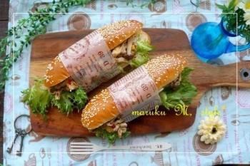みんなでわいわい楽しむパーティにはラッピングしたサンドイッチがおすすめ。