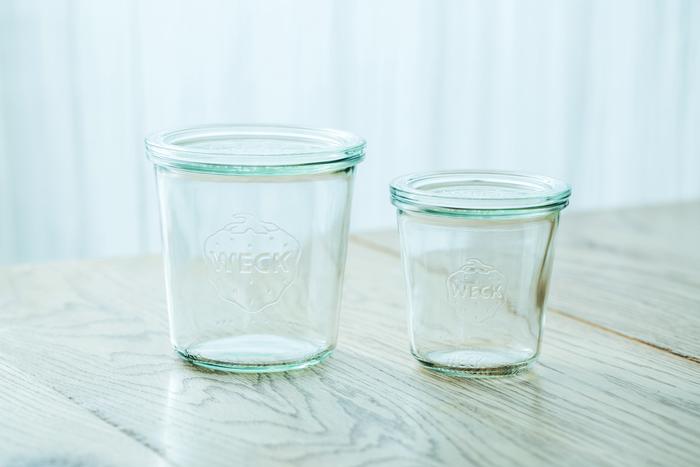まずは植物を栽培するガラス瓶。今回はキナリノではおなじみのドイツ生まれの保存容器WECK(ウェック)を使用します。