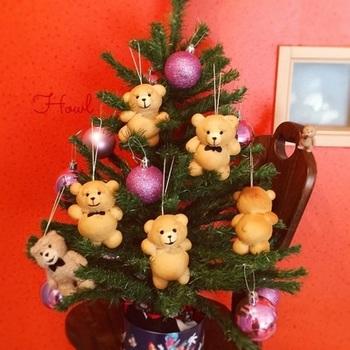 とっても可愛い、キャラクターパンがクリスマスツリーに。クリスマスパーティーにピッタリですね。