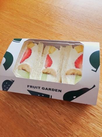 パッケージもかわいい「フルーツサンド」はお土産にもおすすめ。フルーツ専門店なのでおいしさも間違いなし!