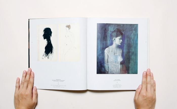 こちらは「青の時代」と呼ばれる、ピカソのわりと初期の頃の絵です。ちょっとピカソのイメージと違いませんか? こういった1985〜1900年の初期作品から、キュビズム、リアリズム、晩年までの作品を扱った展覧会のカタログです。