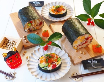日本の季節行事やパーティーに、華やかな巻き寿司。具材次第でこんなに豪華になります。