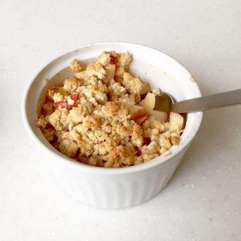 急なお客様への朝食にも◎なほっこり温かいスイーツ。メープルシロップとリンゴの相性をぜひ味わってみてくださいね。冬のおしゃれなデザートにいかがでしょうか♪
