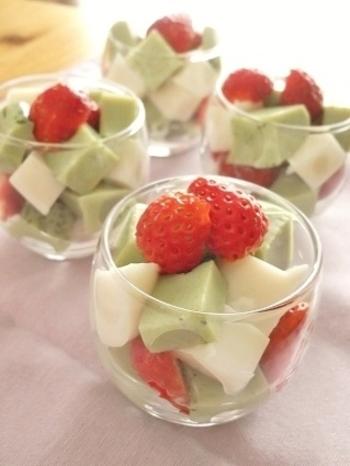 とっても可愛いデザートレシピ! 寒天は混ぜるものによってどんなものにも変身しちゃうのがいいですね。
