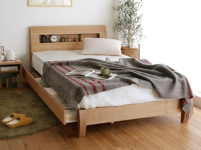 ベッドルームのメインであり、お部屋の雰囲気を大きく左右する「ベッド」。みなさんは、ベッドをどんな基準で選んでいますか?例えば、ベッド下に収納スペースが付いているタイプなら、物を収納した分だけお部屋全体がすっきりします。ベッドルームに収納スペースが少ない場合に、とても有効に活用できますよ。