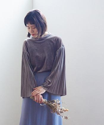 今秋のファッションは素材に注目◎【ベロア・ツイード・サテン】アイテムを使ったコーデ集