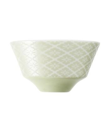 「花菱」が洋風にあしらわれた、エレガントなお茶碗。メタリックな色味が、Francfrancらしいおしゃれなアイテムになっています。