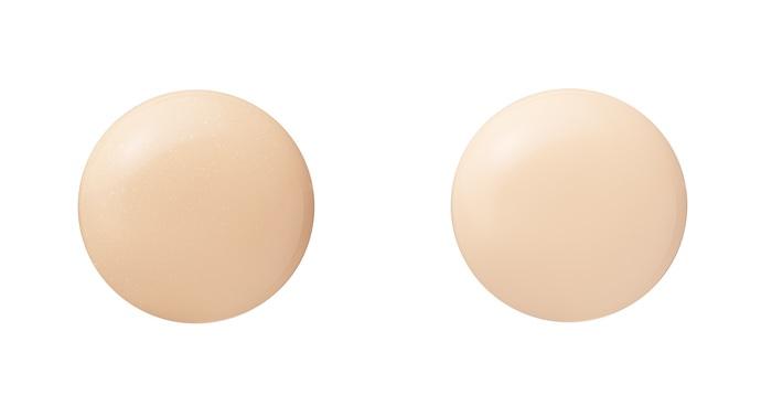 (左) 01 シャンパンベージュ (右) 02 ナチュラルベージュ