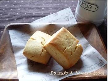材料を混ぜて焼くだけのお手軽&ヘルシーな本格スコーンのレシピ。大豆粉はもちろん米粉は満腹感を感じやすいので、糖質控えめにしたいときにおすすめです♪  砂糖:きび糖 小麦粉:なし(代用 大豆粉、米粉)