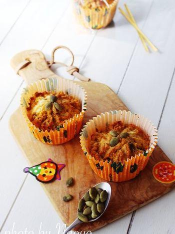 ハロウィンの季節には、こちらのレシピもいかがでしょうか?かぼちゃの優しい風味は、子供たちにも喜んでもらえそうです*