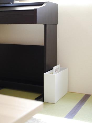 使いたい場所に、持ち運んで使える優れもの!見た目もシンプルなので、床にそのまま置いておいても邪魔になりません。