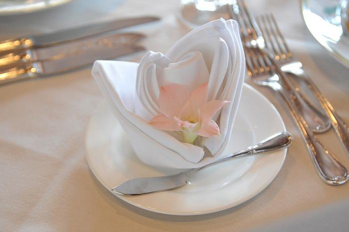 『welcome!!』という言葉の代わりに、少し変わった'飾りナプキン'でゲストを迎えてみませんか?こんな、ちょっとしたひと手間で、いつもの料理がもっと美味しく感じるかもしれませんよ♪